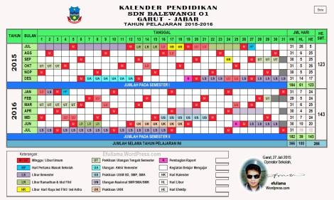 Kalender Pendidikan 2015_2016 Kabupaten Garut