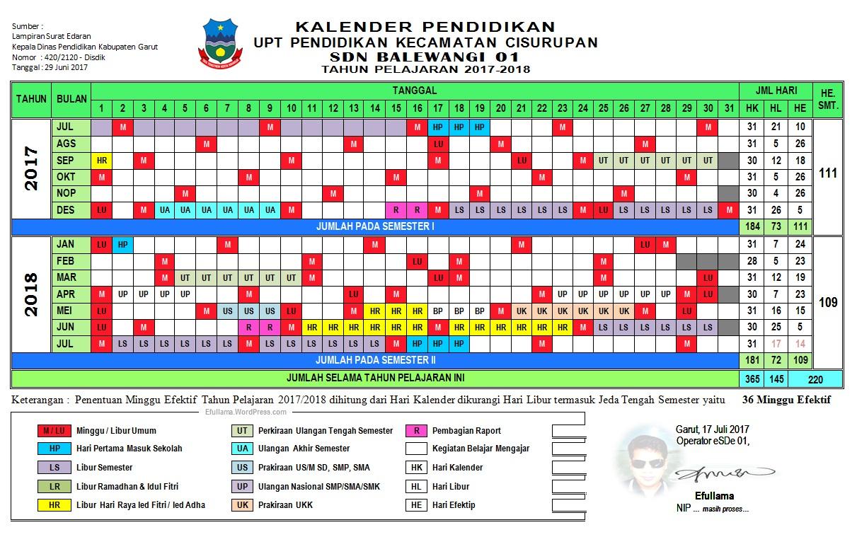 Download Kalender Pendidikan 2019 Jawa Barat
