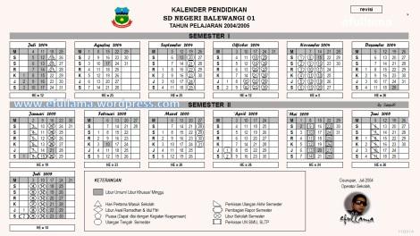 Kalender Pendidikan TP 2004_2005