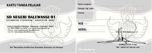 Kartu NISN Khusus SDN Balewangi 01 Garut