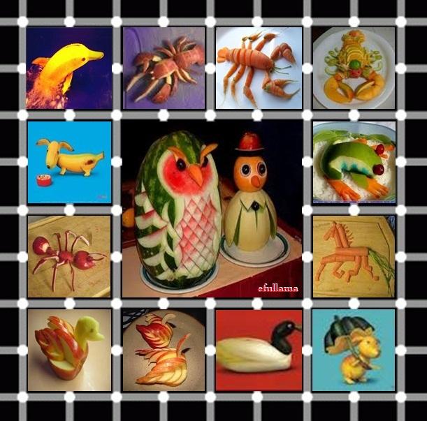 Bentuk hewan dari kreatif aneka buah