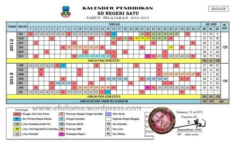 Kalender Tahun Pelajaran 2012_2013