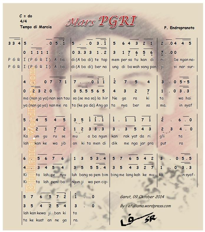 Not Lagu Mars PGRI terbaru