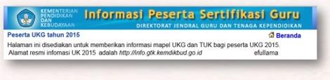 alamat login Kartu peserta UKG Tahun 2015 efullama