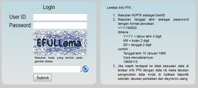 Cek Info Validasi Ptk Terbaru Di P2tk Dikdas 2013 Efull Ma