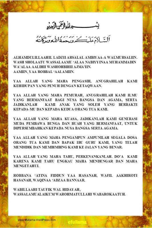 Teks Doa Upacara Bendera