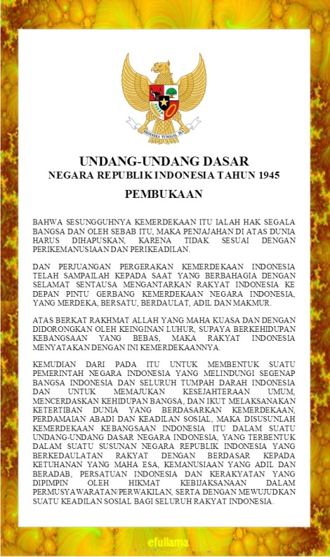 Teks Tata Upacara Bendera Efull Ma