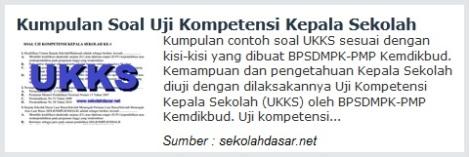 Uji Kompetensi Kepala Sekolah (UKKS)