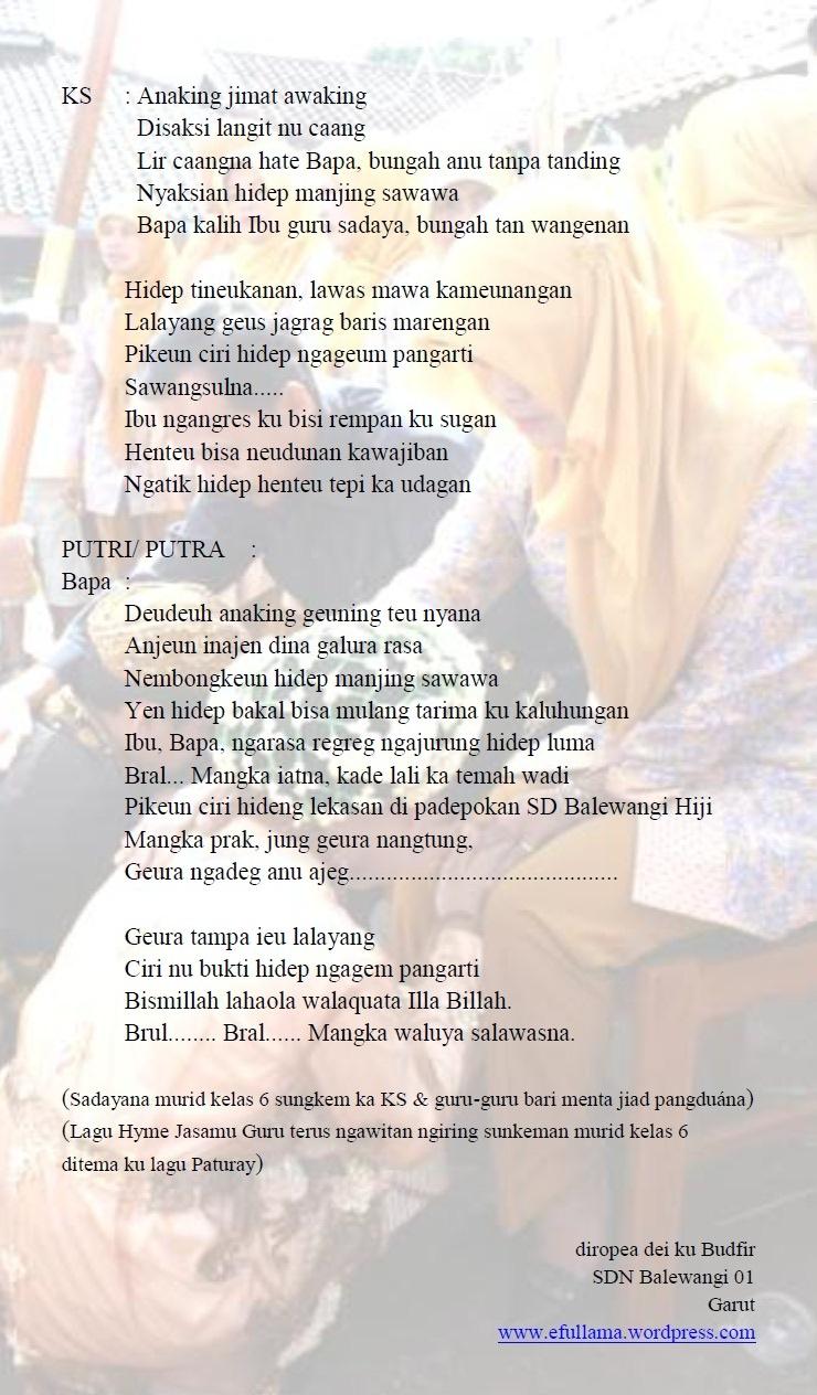 teks mc bahasa sunda paturay tineung