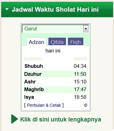 Jadwal Waktu Shalat log200414