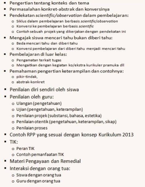 Pelatihan Kurikulum 2013 2