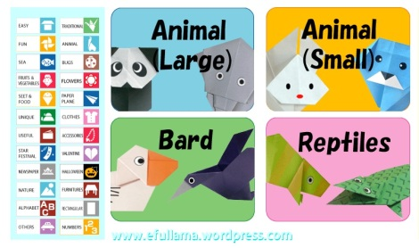 11 icon origami animal by efullama