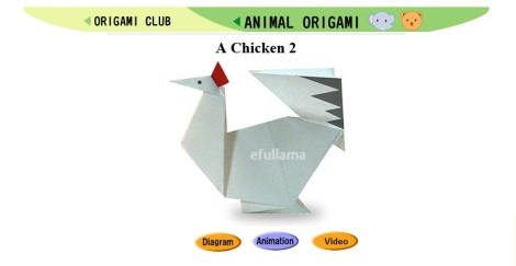 14 icon origami chicken by efullama