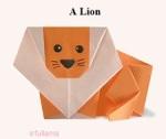 1b Origami Singa efullama