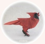 ic ORIGAMI burung merah efullama