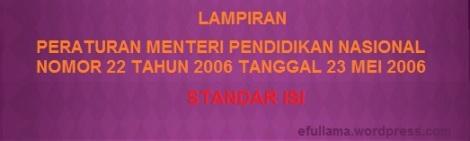 Lampiran Permen Nomor 22 Tahun 2006_Standar Isi