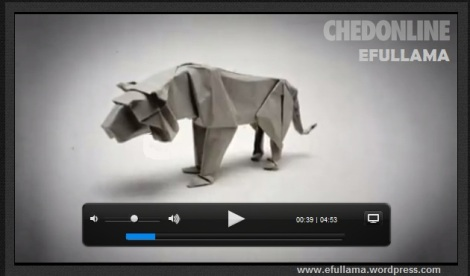 Video Amazing ORIGAMI efullama