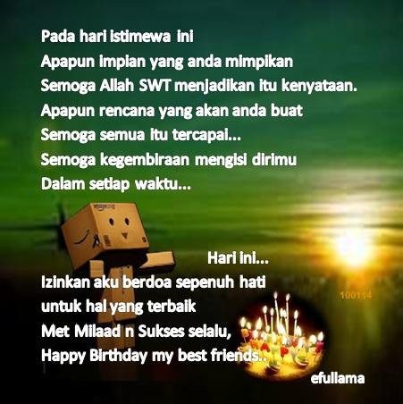 Danbo Selamat Ulang Tahun Efull Ma