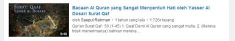 1 youtube bacaan merdu surat qaaf by efullama