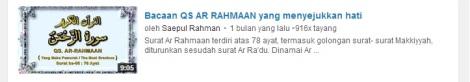 2 youtube quran surat ar rahmaan penyejuk hati by efullama
