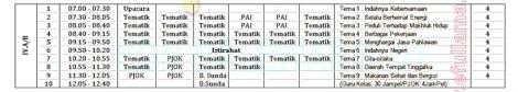 jadwal pelajaran kurikulum 2013 umum 4 by efullama