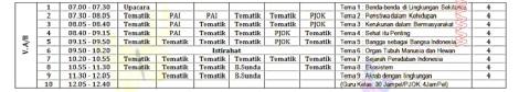 jadwal pelajaran kurikulum 2013 umum 5 by efullama