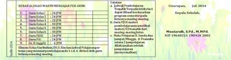 jadwal pelajaran kurikulum 2013 umum 6a by efullama