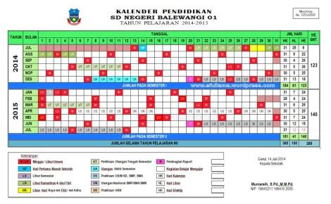 kalender pendidikan kurikulum 2013 tp 2014_2015 by efullama