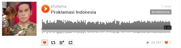 18b soundcloud efullama proklamasi indonesia
