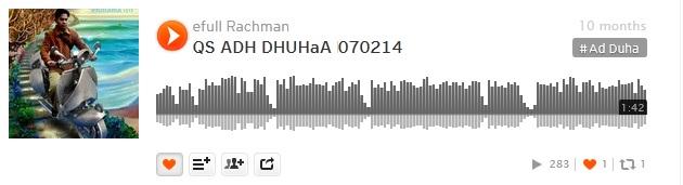 2b soundcloud efullama qs ad dhuha 21D14